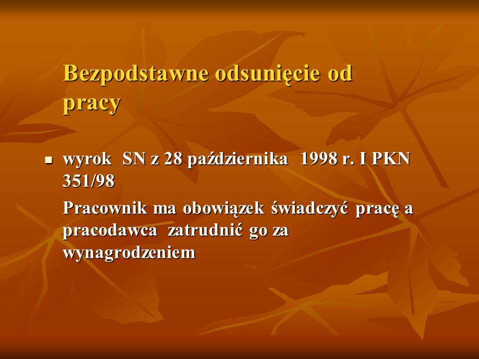 wyrok SN z 28 października 1998 r. I PKN 351/98