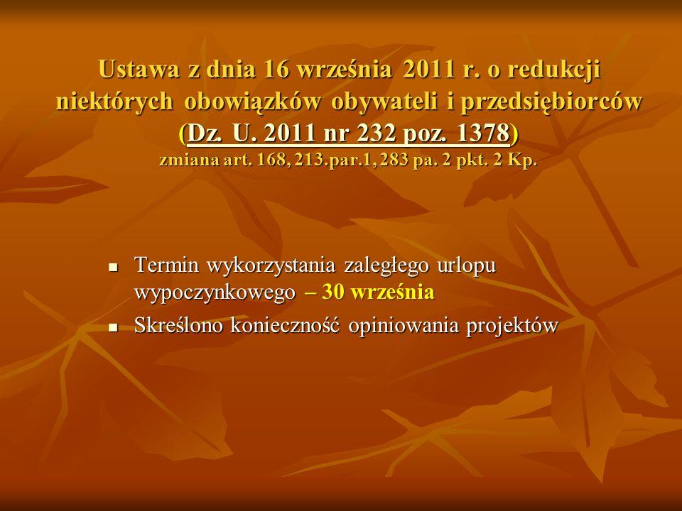 Ustawa z dnia 16 września 2011 r