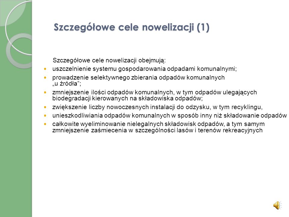 Szczegółowe cele nowelizacji (1)