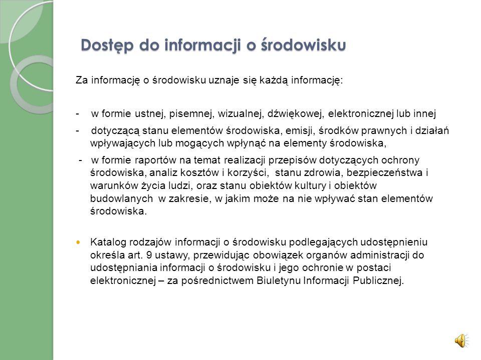 Dostęp do informacji o środowisku