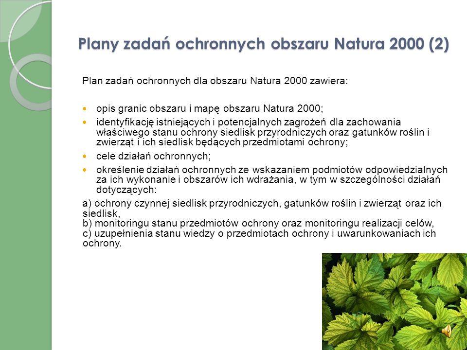 Plany zadań ochronnych obszaru Natura 2000 (2)