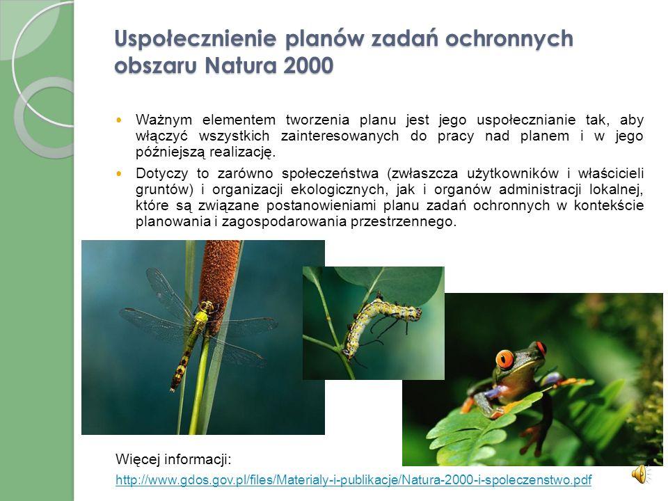 Uspołecznienie planów zadań ochronnych obszaru Natura 2000