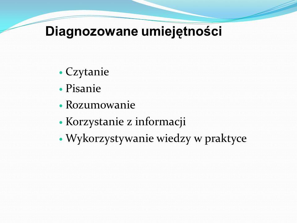 Diagnozowane umiejętności