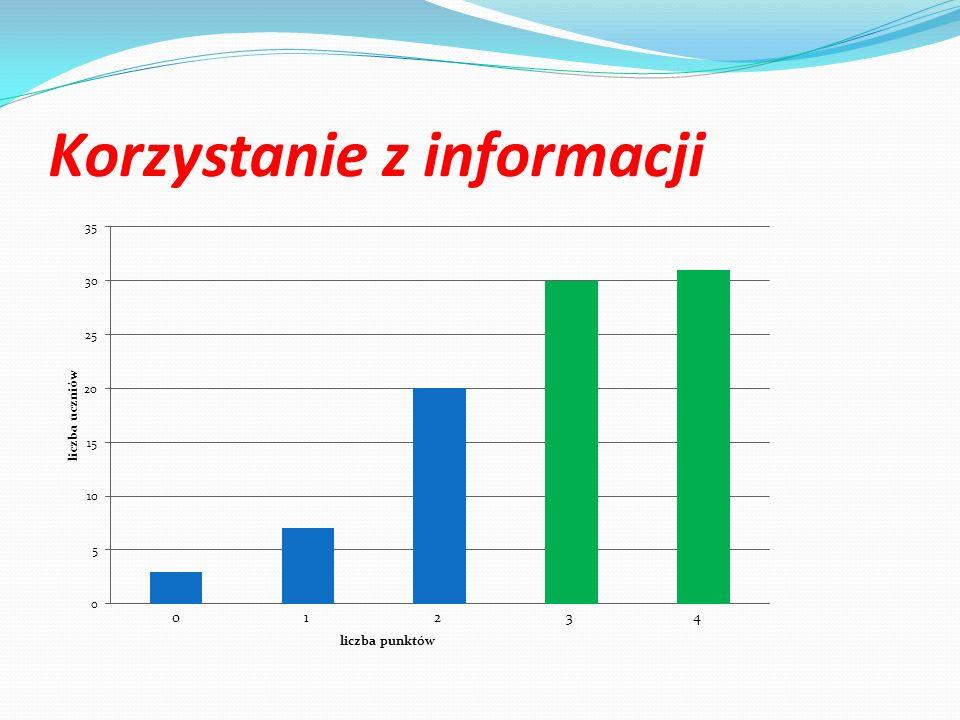 Korzystanie z informacji