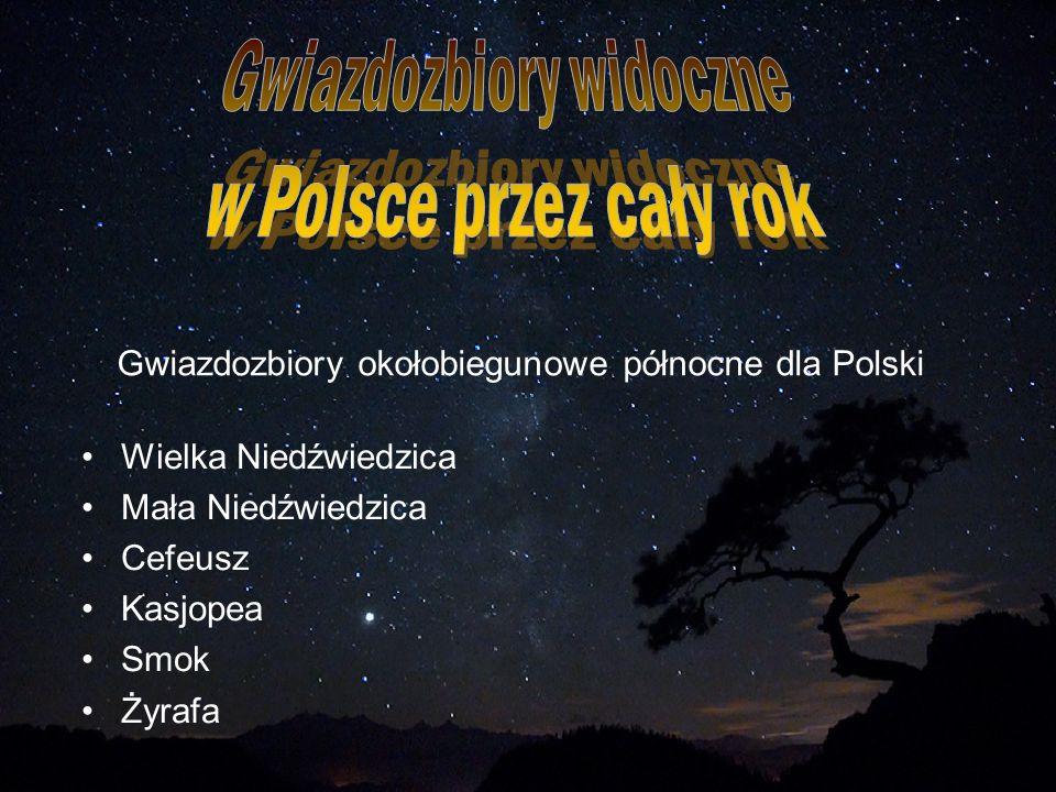 Gwiazdozbiory okołobiegunowe północne dla Polski
