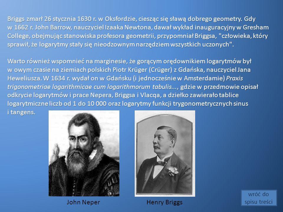 Briggs zmarł 26 stycznia 1630 r