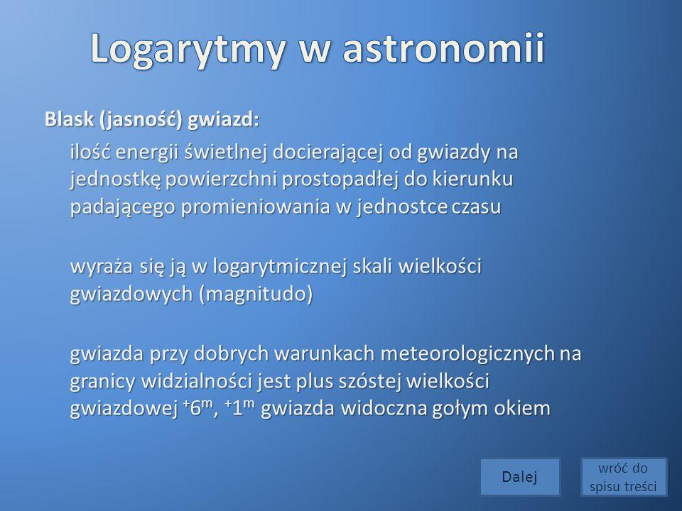 Logarytmy w astronomii