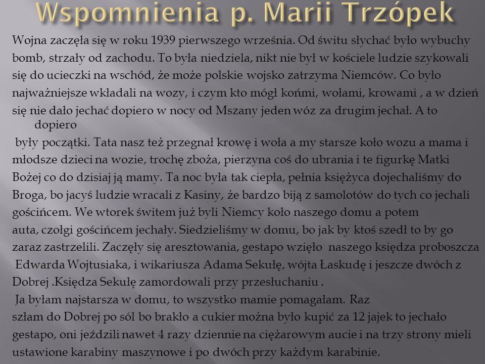 Wspomnienia p. Marii Trzópek