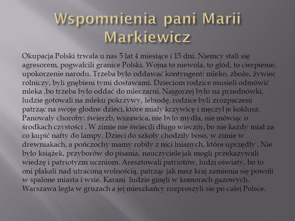 Wspomnienia pani Marii Markiewicz