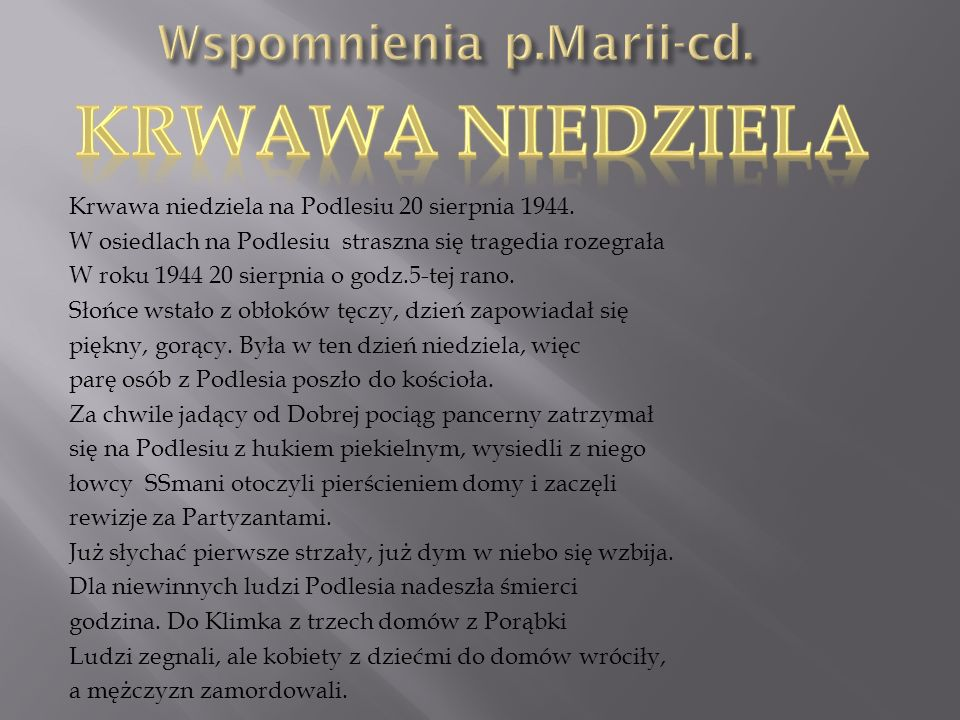 Wspomnienia p.Marii-cd.