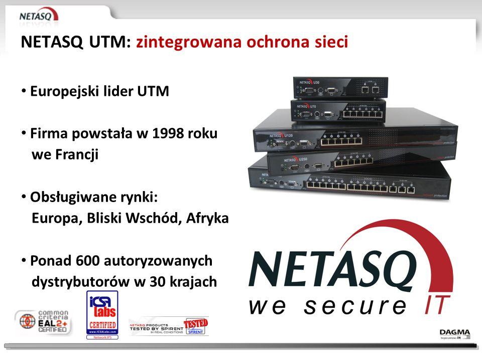 NETASQ UTM: zintegrowana ochrona sieci