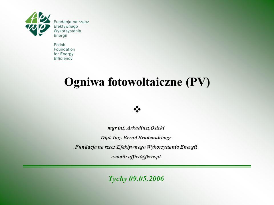 Ogniwa fotowoltaiczne (PV)