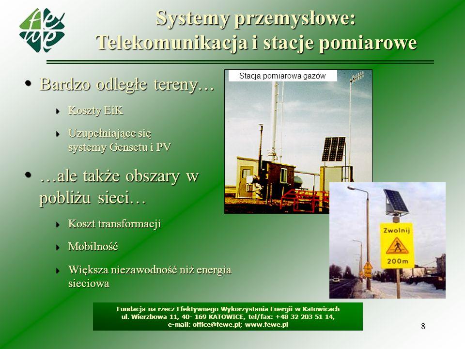 Systemy przemysłowe: Telekomunikacja i stacje pomiarowe