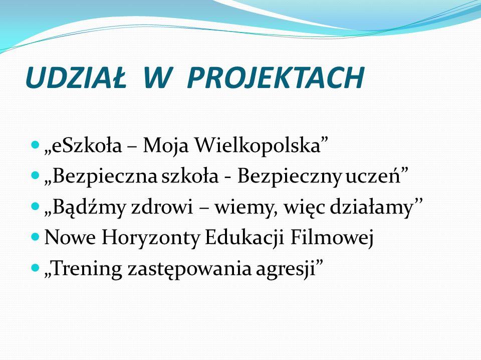 """UDZIAŁ W PROJEKTACH """"eSzkoła – Moja Wielkopolska"""