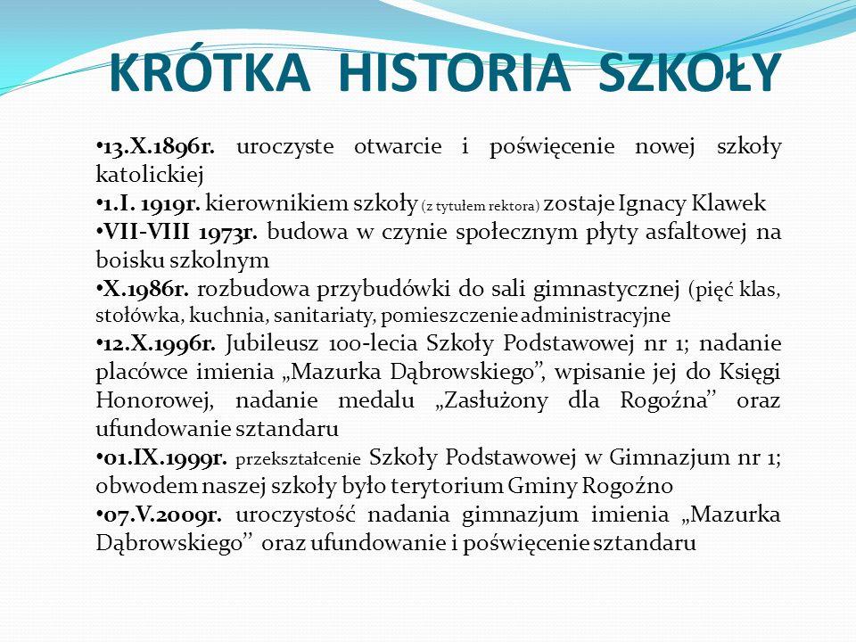 KRÓTKA HISTORIA SZKOŁY