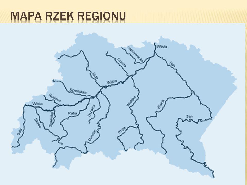 Mapa rzek regionu