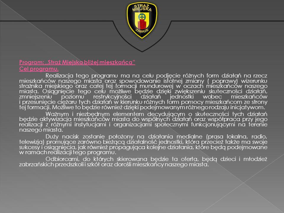 Program: ,,Straż Miejska bliżej mieszkańca Cel programu