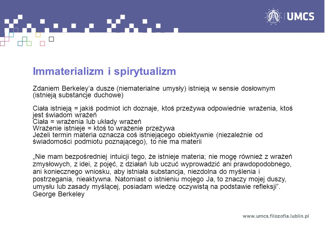Immaterializm i spirytualizm