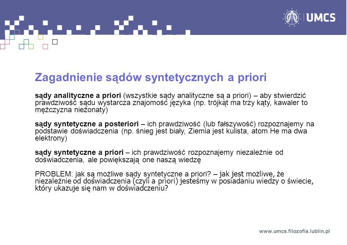 Zagadnienie sądów syntetycznych a priori