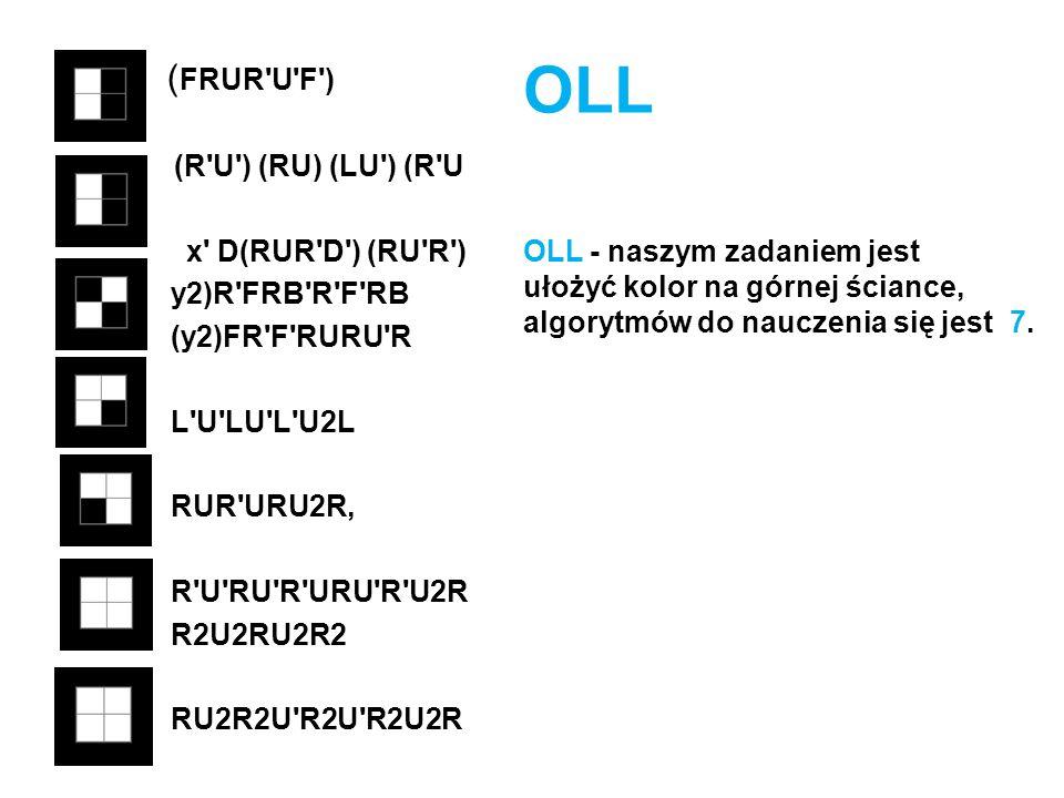 OLL (FRUR U F ) (R U ) (RU) (LU ) (R U x D(RUR D ) (RU R )