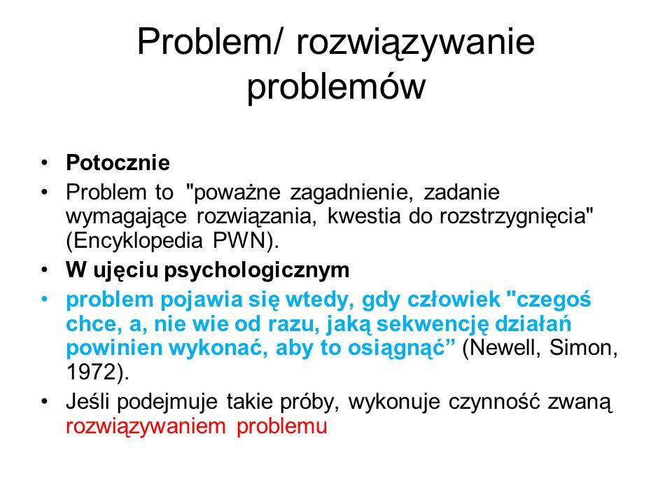 Problem/ rozwiązywanie problemów