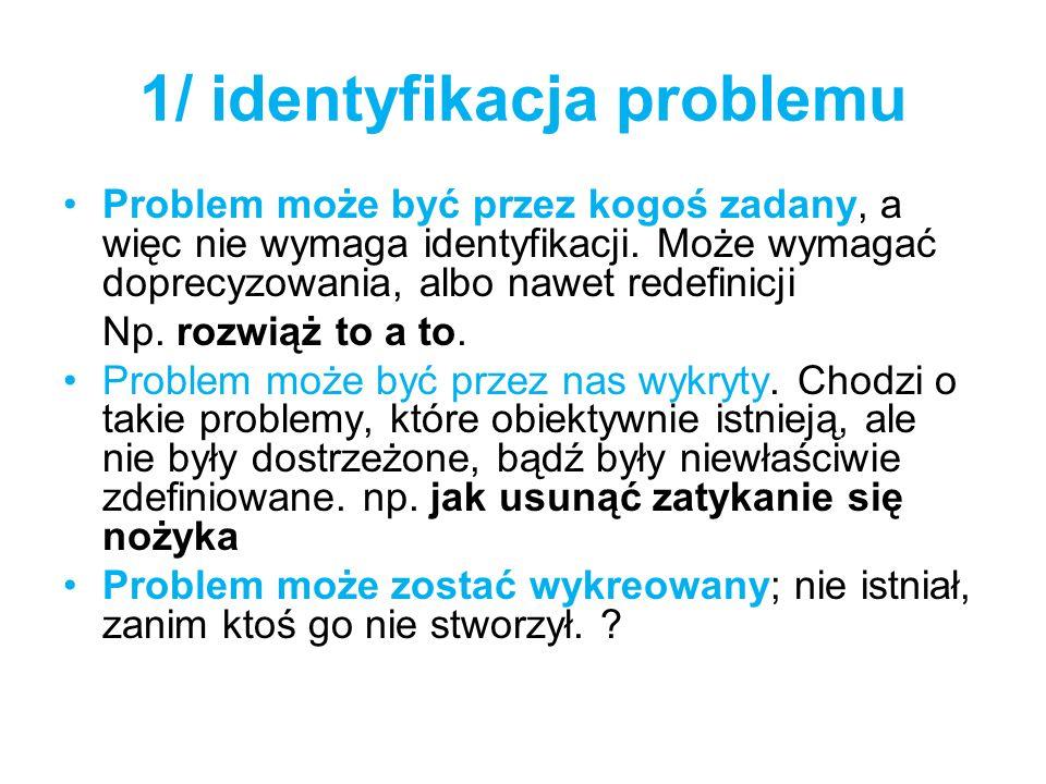 1/ identyfikacja problemu