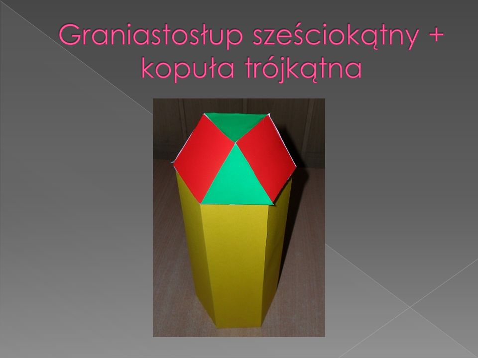 Graniastosłup sześciokątny + kopuła trójkątna