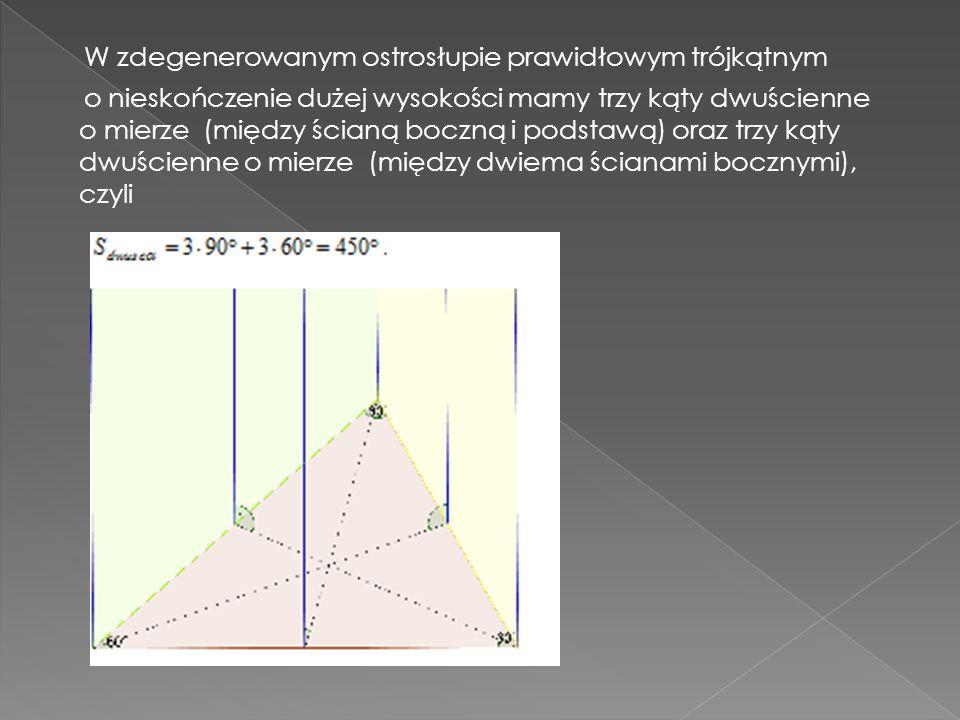 W zdegenerowanym ostrosłupie prawidłowym trójkątnym
