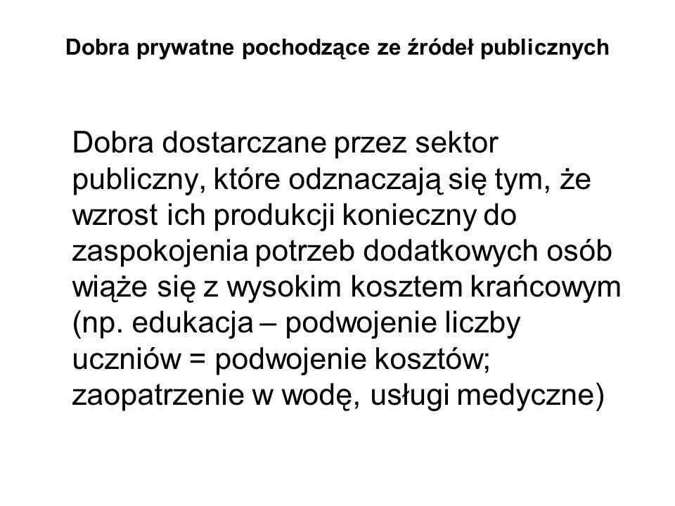 Dobra prywatne pochodzące ze źródeł publicznych