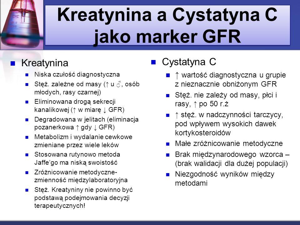 Kreatynina a Cystatyna C jako marker GFR