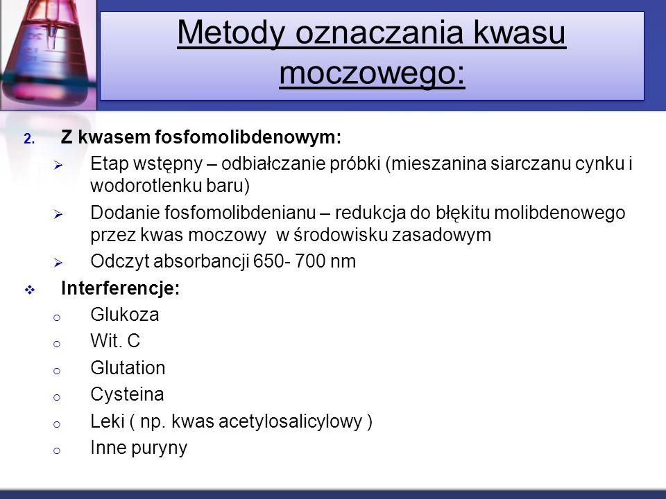 Metody oznaczania kwasu moczowego: