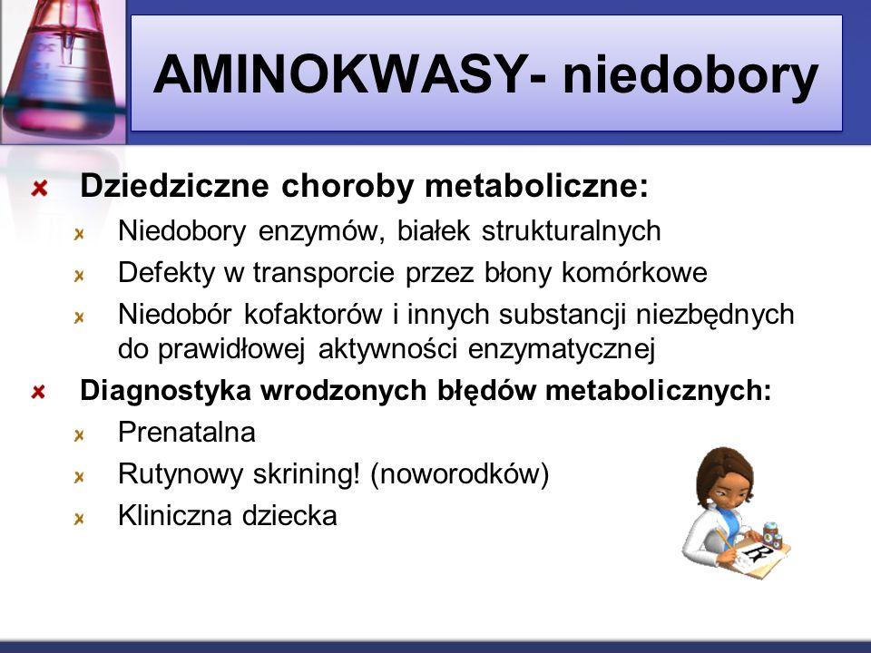 AMINOKWASY- niedobory