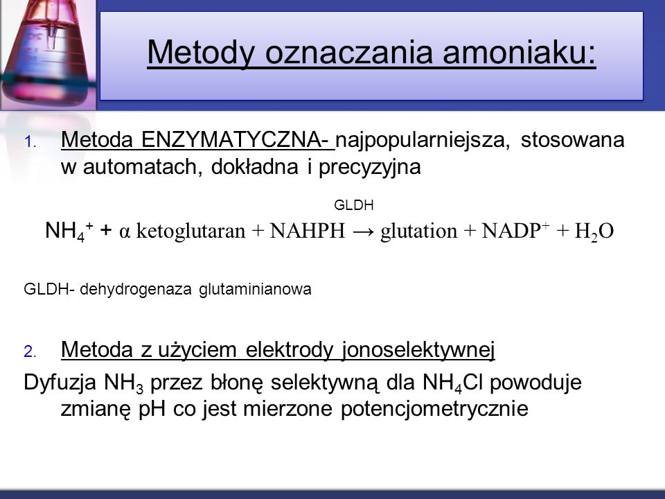 Metody oznaczania amoniaku: