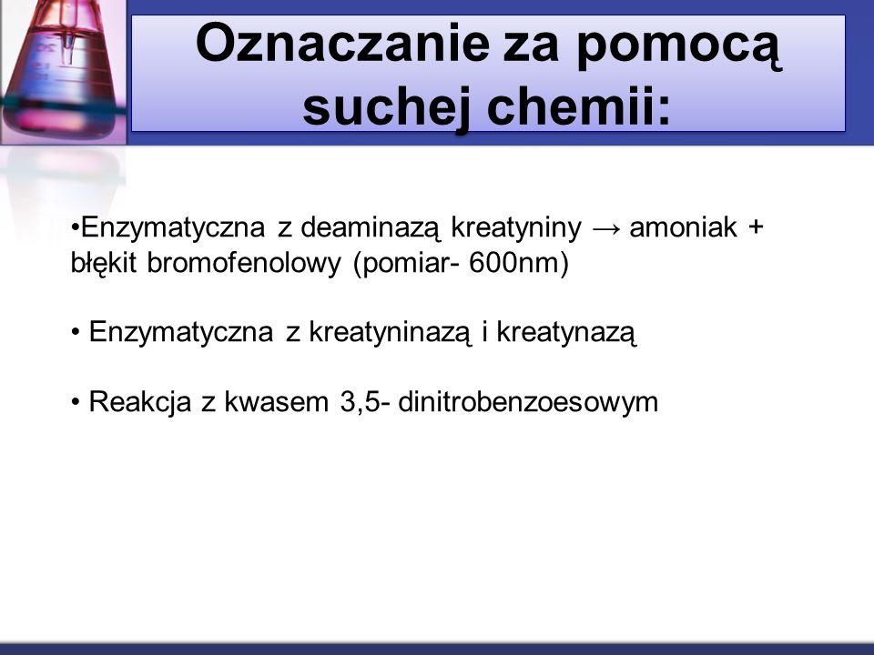 Oznaczanie za pomocą suchej chemii: