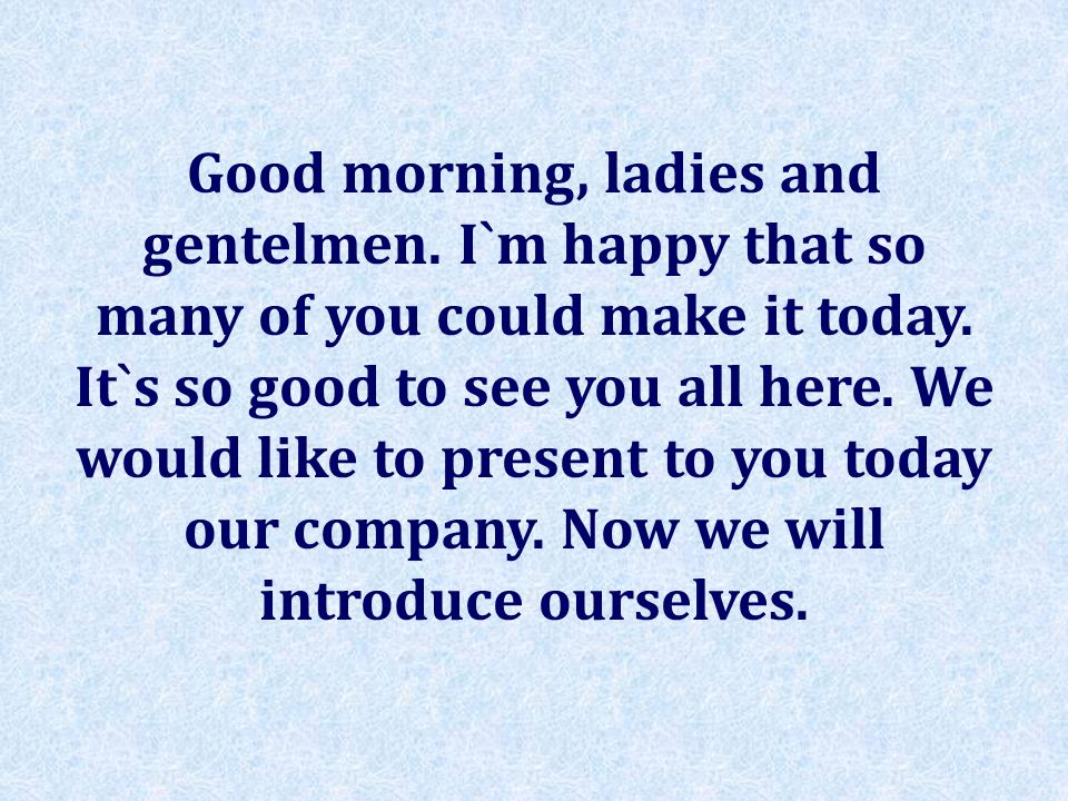 Good morning, ladies and gentelmen