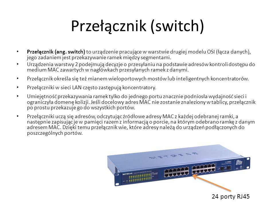 Przełącznik (switch) 24 porty RJ45