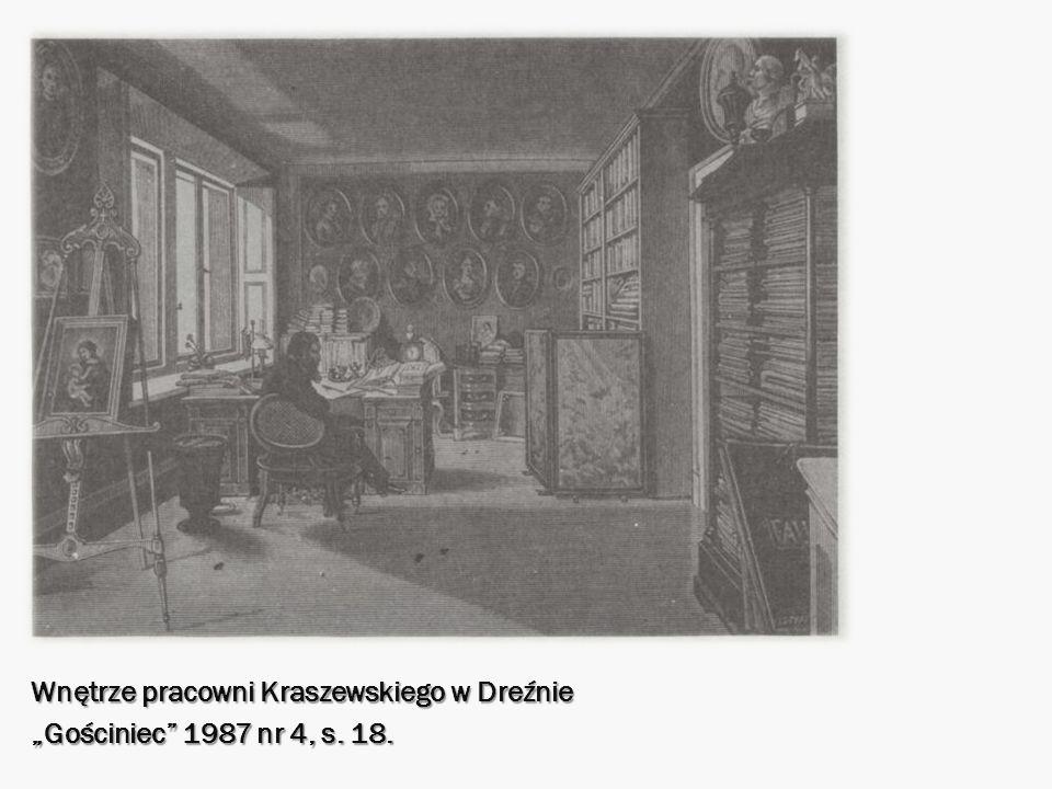 Wnętrze pracowni Kraszewskiego w Dreźnie