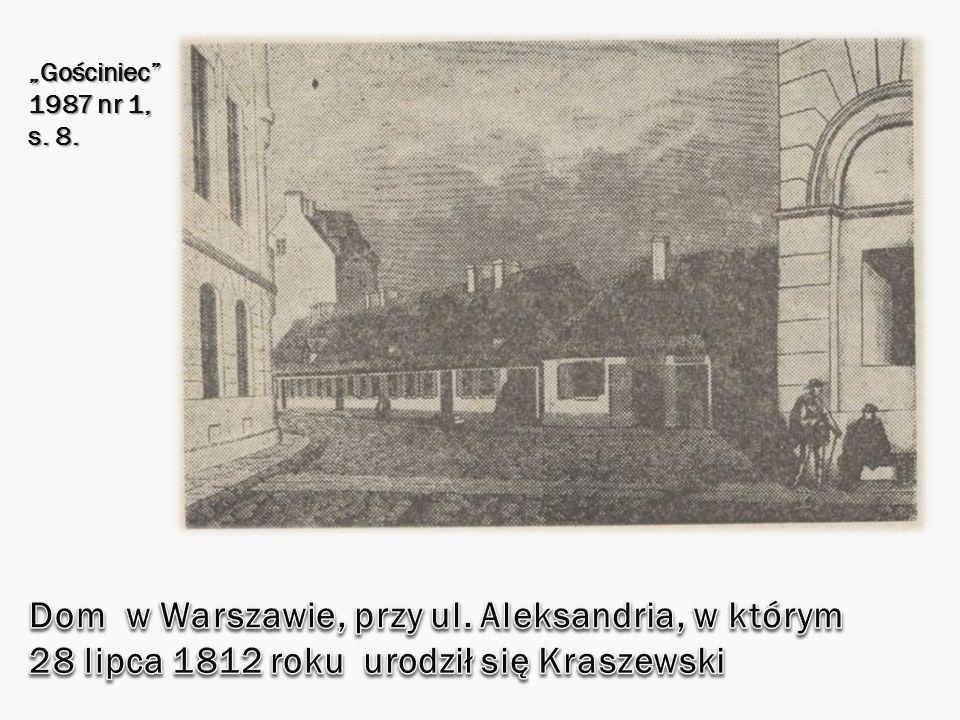 """""""Gościniec 1987 nr 1, s. 8. Dom w Warszawie, przy ul."""