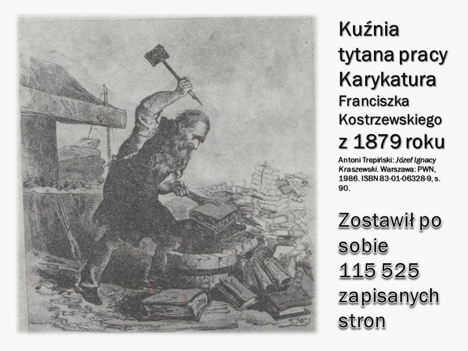 Kuźnia tytana pracy Karykatura Franciszka Kostrzewskiego z 1879 roku