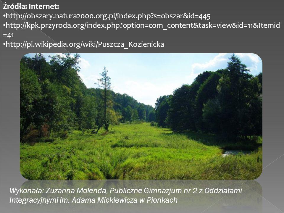 Źródła: Internet: http://obszary.natura2000.org.pl/index.php s=obszar&id=445.