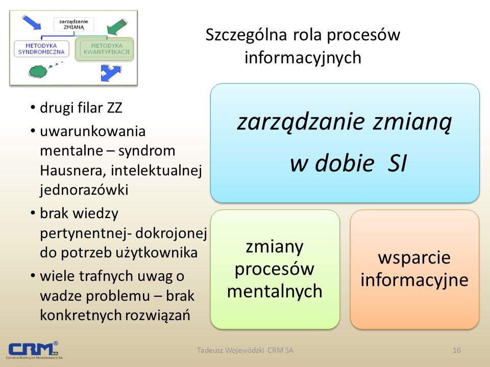 Szczególna rola procesów informacyjnych