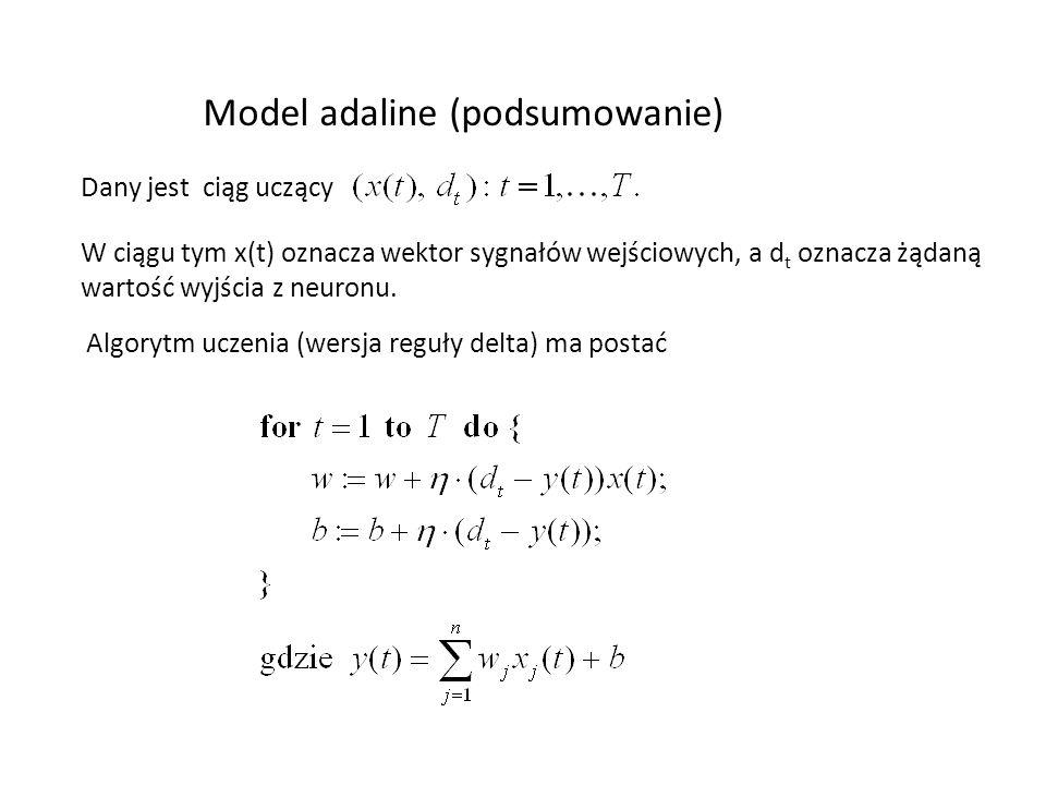 Model adaline (podsumowanie)