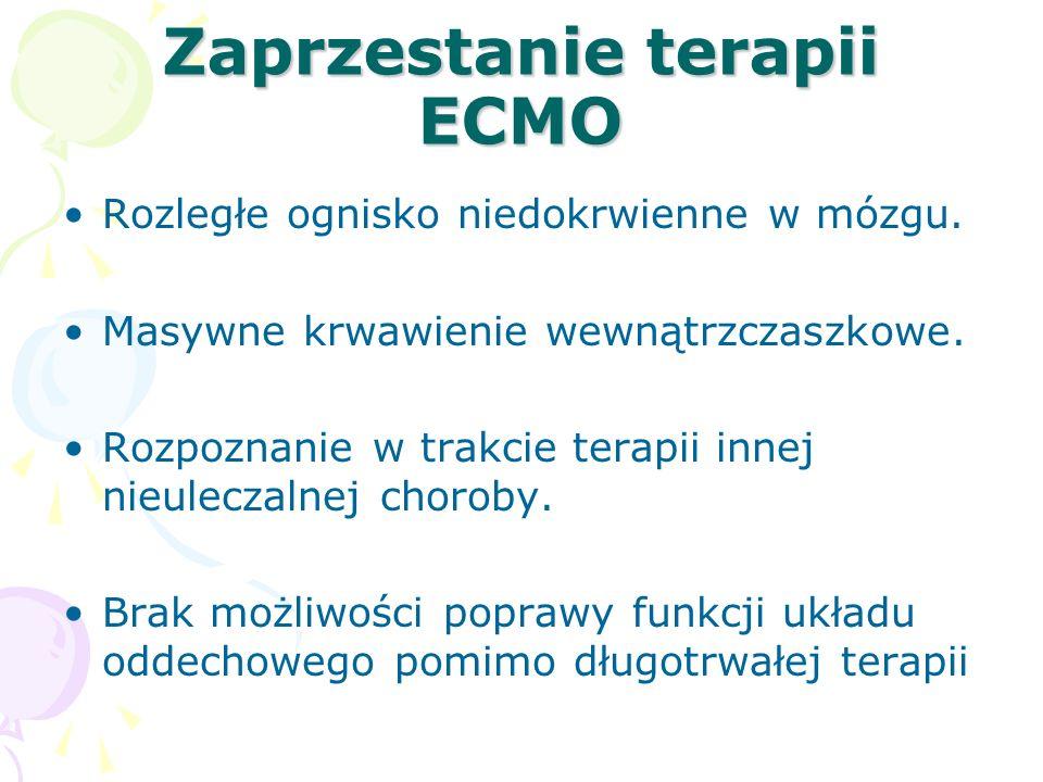 Zaprzestanie terapii ECMO