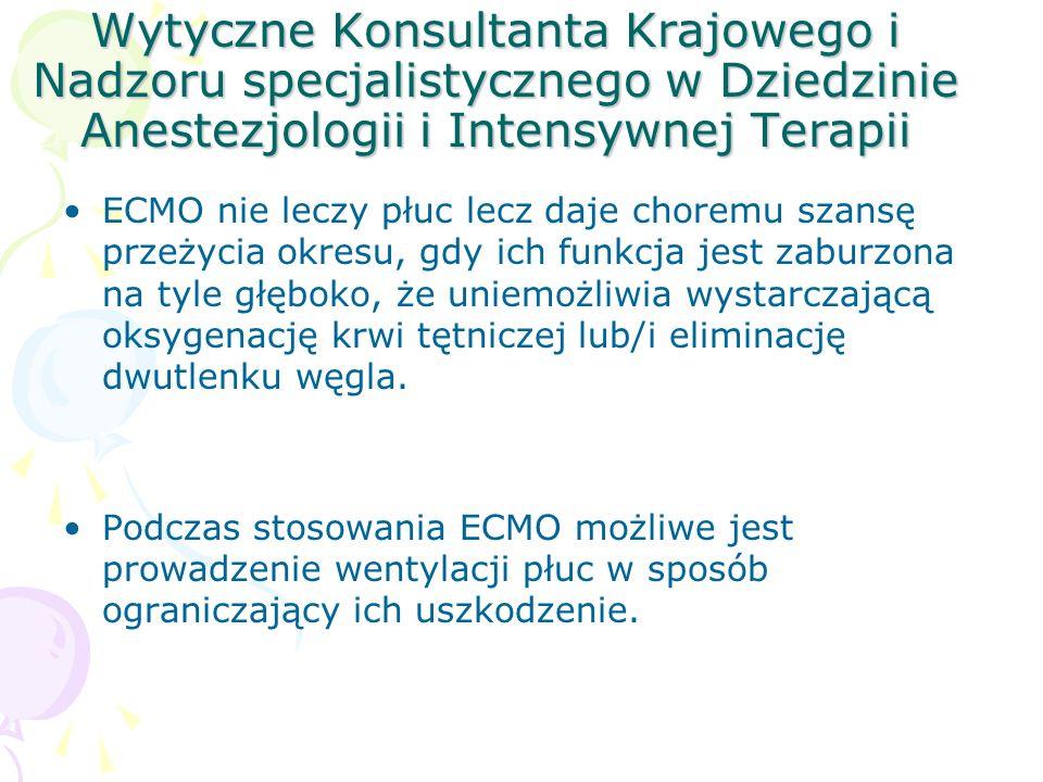 Wytyczne Konsultanta Krajowego i Nadzoru specjalistycznego w Dziedzinie Anestezjologii i Intensywnej Terapii
