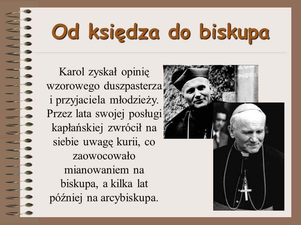 Od księdza do biskupa