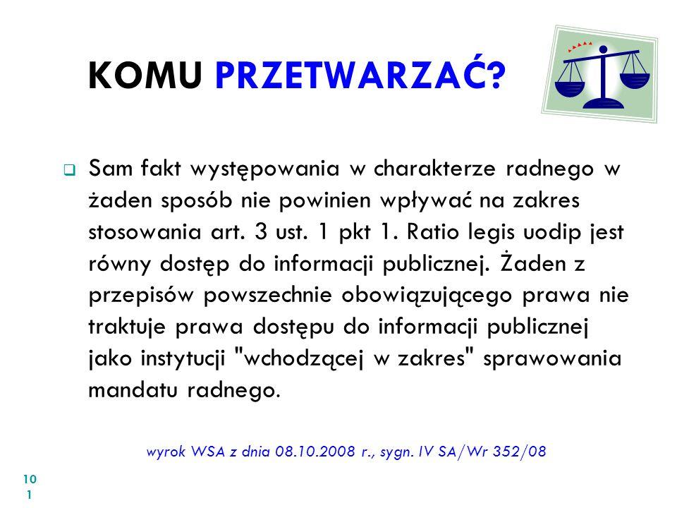 wyrok WSA z dnia 08.10.2008 r., sygn. IV SA/Wr 352/08