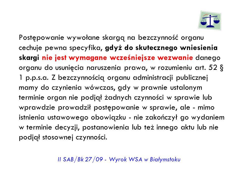 II SAB/Bk 27/09 - Wyrok WSA w Białymstoku