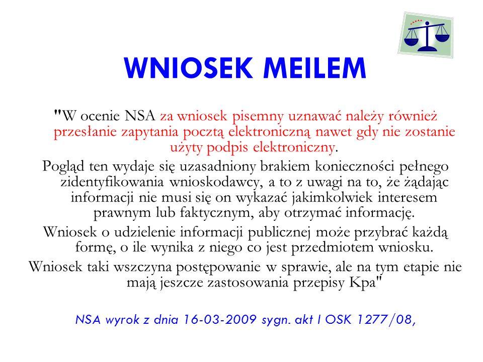 NSA wyrok z dnia 16-03-2009 sygn. akt I OSK 1277/08,
