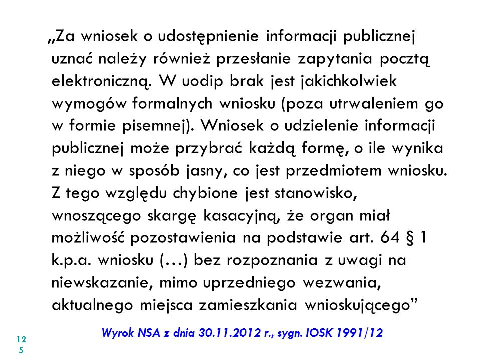 Wyrok NSA z dnia 30.11.2012 r., sygn. IOSK 1991/12