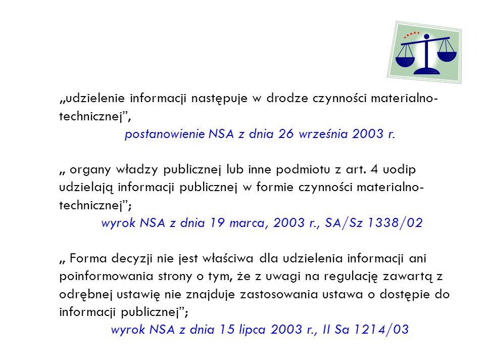 postanowienie NSA z dnia 26 września 2003 r.